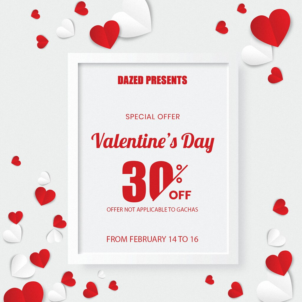 DAZED. IS MOVING & VALENTINE'S DAY SALE!!