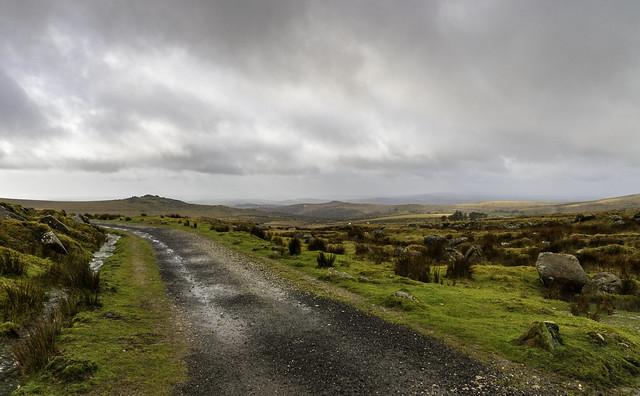 The Track to Yellowmeade Farm.