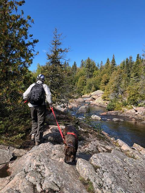 Lake Superior - Linda and Hector on the Orphan Lake hike