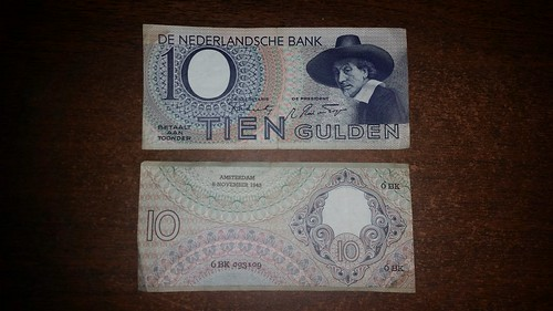 Netherlands 10 Guilder 1943 Notes