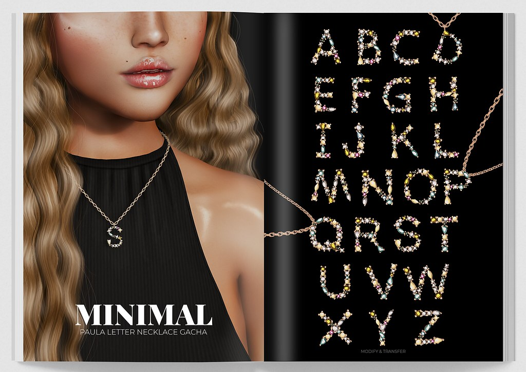 MINIMAL - Paula Letter Necklace Gacha