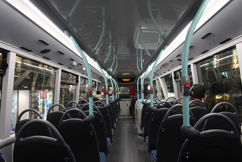 Upper Deck interior of London United BCE47003 on Route 94