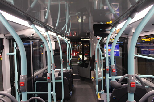 Lower Deck interior of London United BCE47007 on Route 94