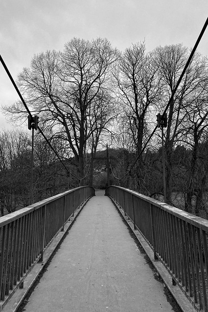 suspension footbridge over the River Severn