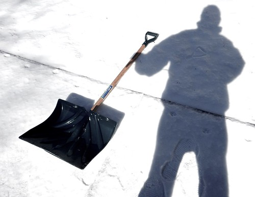 My Shadow Grabs the Shovel in Order to Help Me Shovel Snow