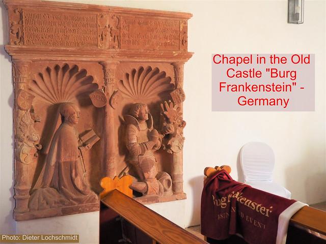 Chapel in the Castle Frankenstein in Germany