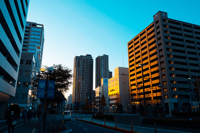 Catching the last sunrays in Okayama