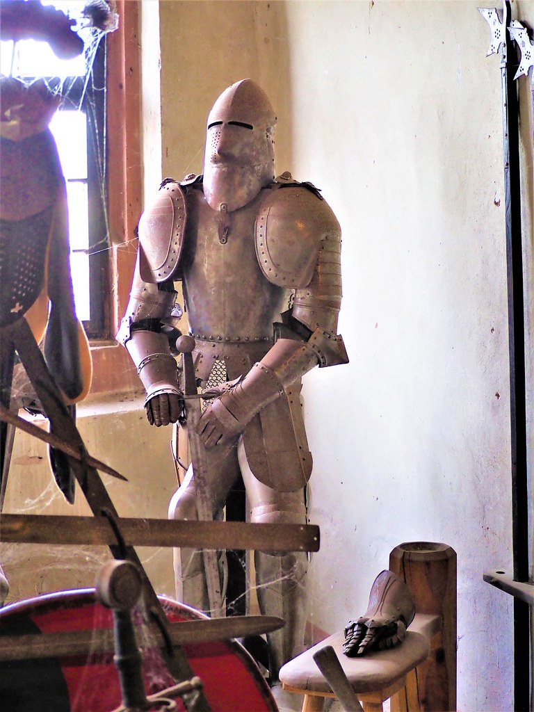The Armor of a Knight - seen in the Old Castle Ronneburg, near Frankfurt in Germany