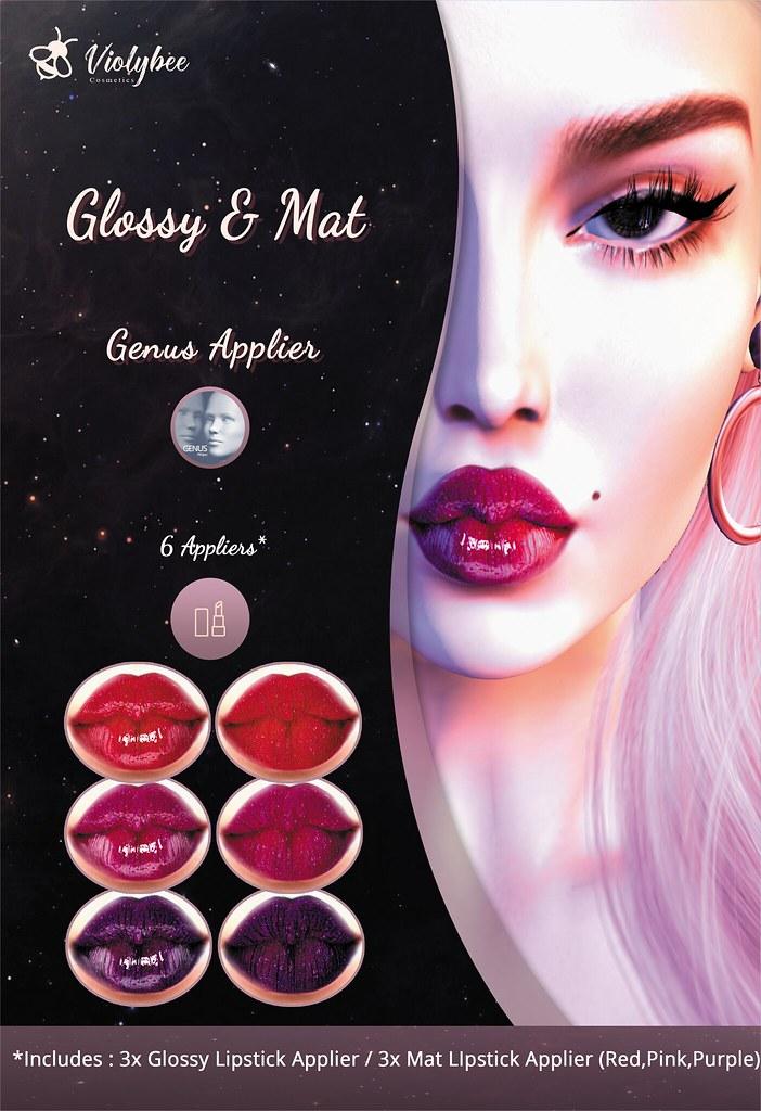 Violybee. – Glossy & Mat Lipstick Applier (GENUS)