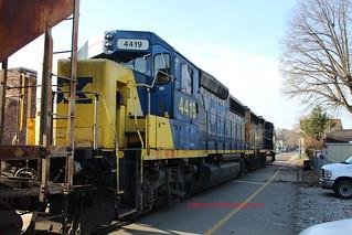CSXT D768-12 with CSXT 4419 at Elizabeth,PA on February 12,2020
