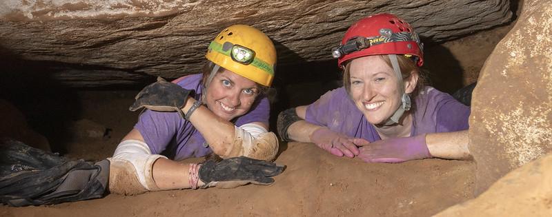 Laurel Abernathy, Kelli Lewis, Blue Spring Cave, White County, Tennessee