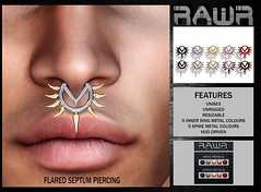 RAWR! Flared Septum Piercing PIC