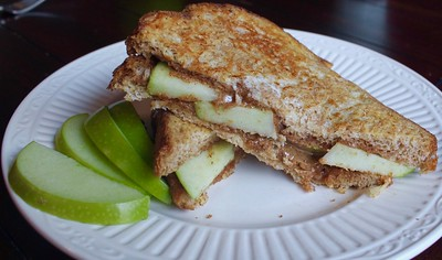Apple Almond Butter French Toast