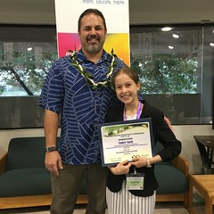 Hawaiian Electric at the 61st annual Maui County Regional Science & Engineering Fair — Feb. 5-6, 2020: Hawaiian Electric award winner, Camry Gach, smiled for a quick photo!