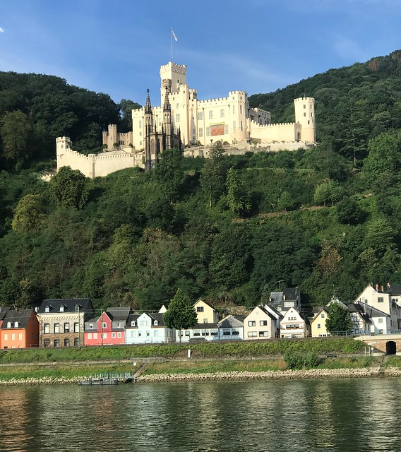 Old Castle on the River Rhine in Germany