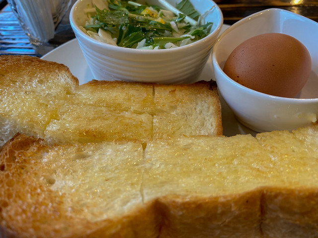 toast with honey butter