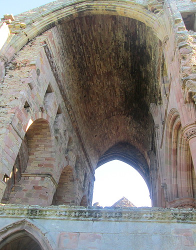 Melrose Abbey, Vaulting of Later Church