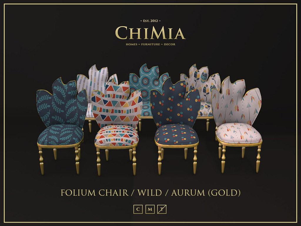 """Folium Chair in """"wild"""" patterns at Home & Garden Expo"""