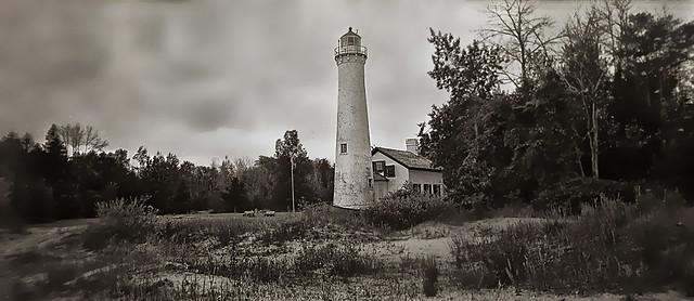 Sturgeon Point Lighthouse on Lake Huron-Harrisville, MI