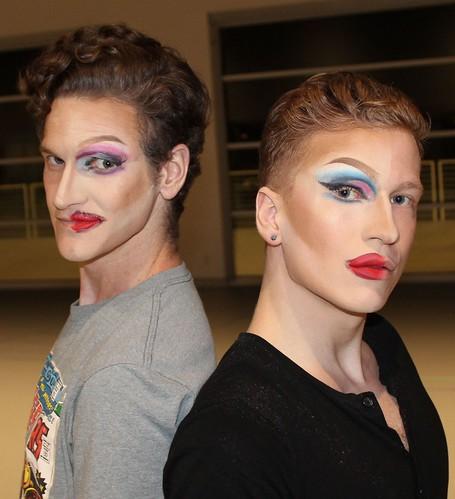 Wicked Step-Sisters: Adam Boreland (lft) and Matthew Cunningham. Cinderella at the Orlando Ballet