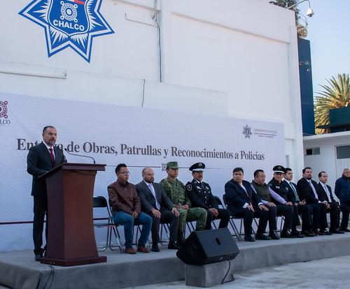 Entrega de Obras, Patrullas y Reconocimientos a Policías