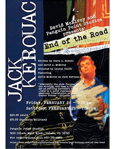 """End of the Road - An Evening with Jack Kerouac"" at Penguin Point in Oviedo Mall"