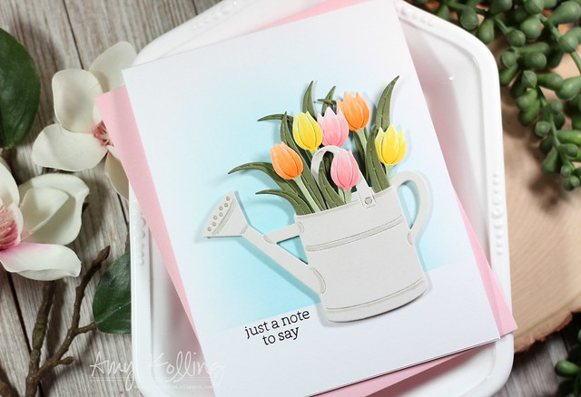 Watering Can and Flowers Fancy Die2