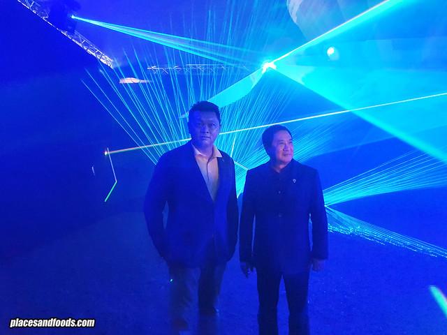 singha park village of illumination pre show laser light