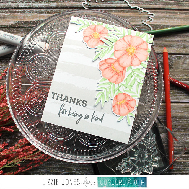 LizzieJones_Concord&9th_MeadowBlossoms_BrushedStripes_ThankYouCard
