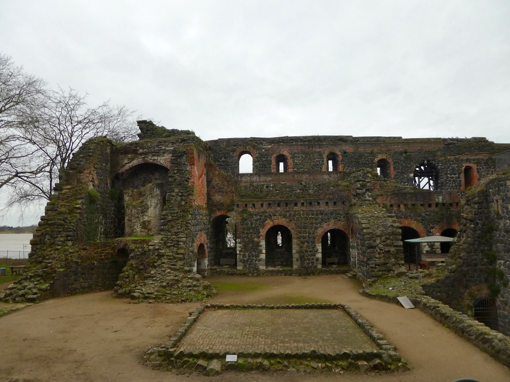 The ruins of the Kaiserpfalz Palace, Kaiserwerth, Dusseldorf