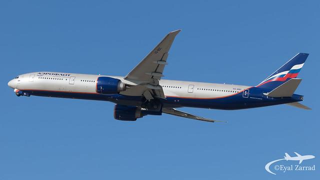 TLV - Aeroflot Boeing 777-300 VQ-BQC