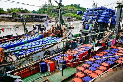 asian ship asia river ranong shipping port harbor boat thailand