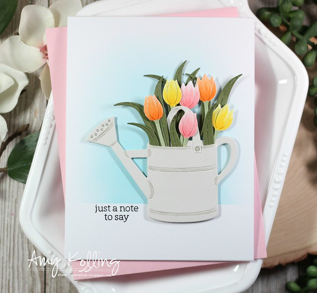 Watering Can and Flowers Fancy Die