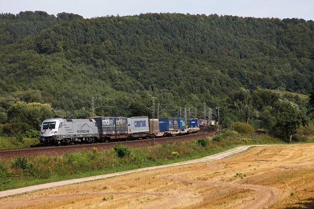 DB 182 004 Porsche + Güterzug/goederentrein/freight train  40574 Nürnberg - Maschen  - Freden