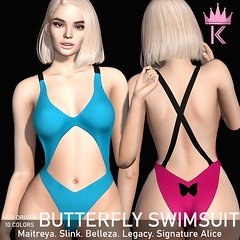 .KIMBRA. - BUTTERFLY SWIMSUIT