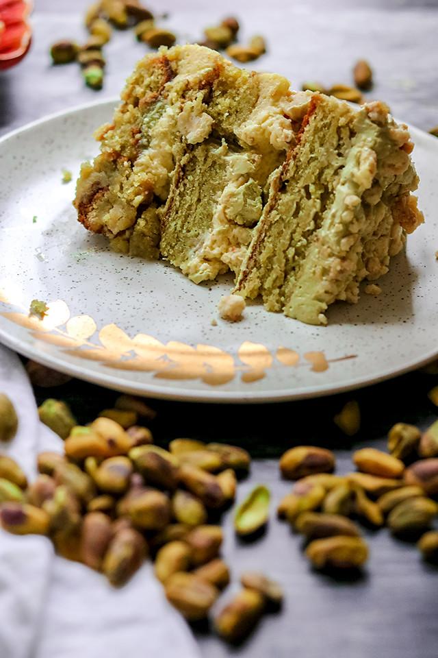 Momofuku Milk Bar Pistachio Layer Cake