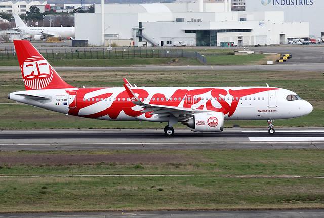 ERNEST / Airbus   A 320 NEO   9K-CBE   msn 9528 / LFBO - TLS / fév 2020