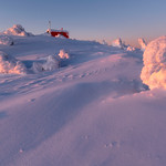 Snow sculptures of the Arctic