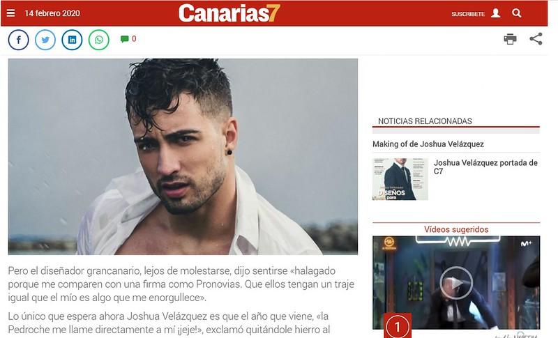 Publicación en el periódico Canarias7