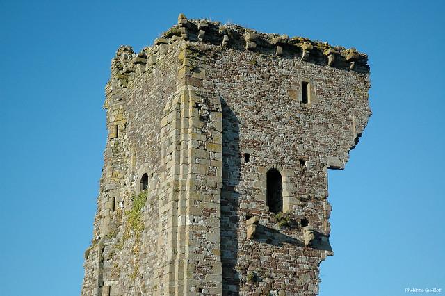 Le donjon du château de Regnéville vu du côté mer