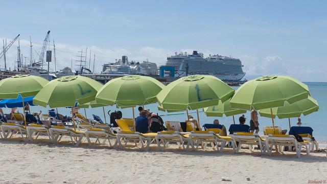 Plage, beach - St-Martin, Caraïbes - 3724