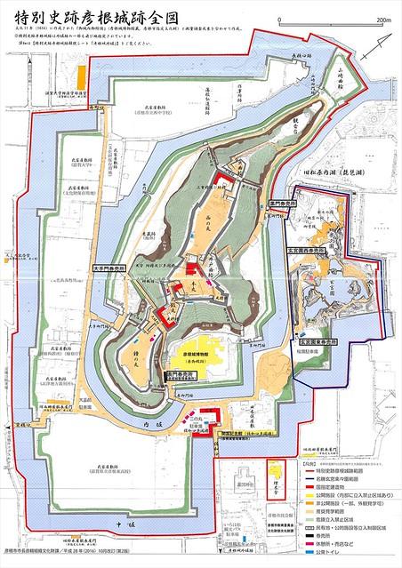 彦根城の縄張り・地図