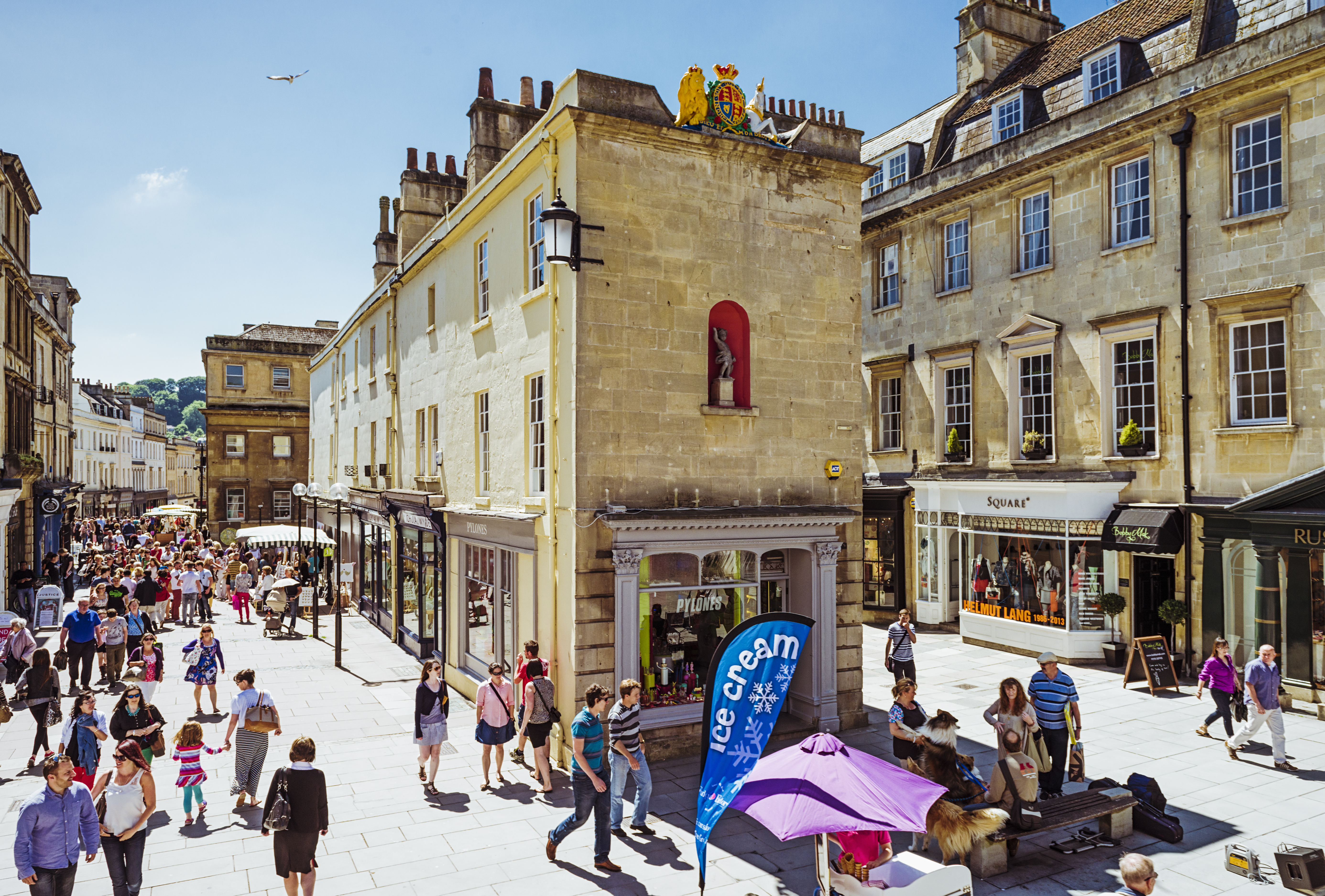 Milsom street in Bath city centre