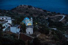 Ikaria/Ικαρία - View down on Plagia in the evening