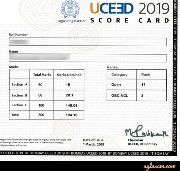 UCEED scorecard