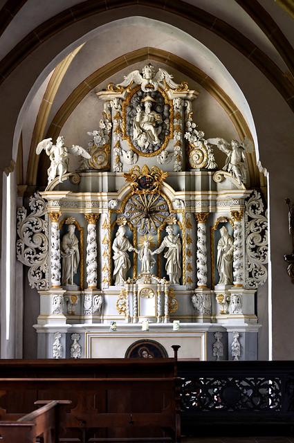 Marienfeld, Westfalen, Abtei Marienfeld, north aisle, altar of the holy family
