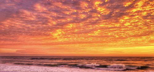 cloudsonfire cloudscape clouds atlanticcoast floridacoast florida radiant colorful colors sand waves sun melbournebeac melbourne sunrise sea coastal coast atlantic
