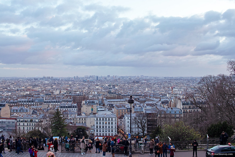 Parigi dall'alto di Montmartre