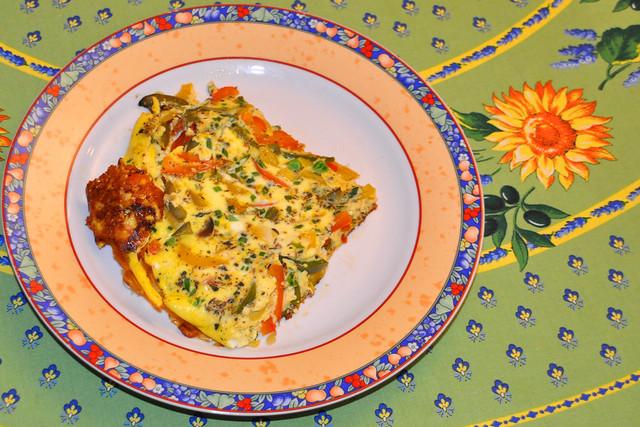 Februar 2020 ... Kunterbuntes Gemüse-Omelett ... Brigitte Stolle