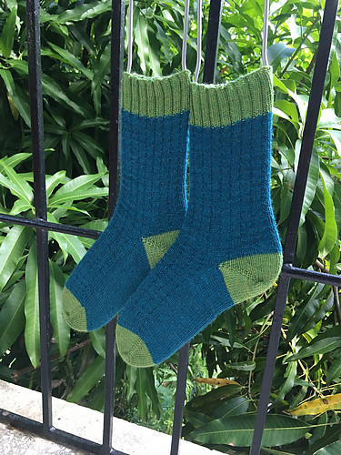 Sandi knit these Simple Toe Up Socks by Carmen Jorissen for her daughter using Coopknits Socks Yeah!